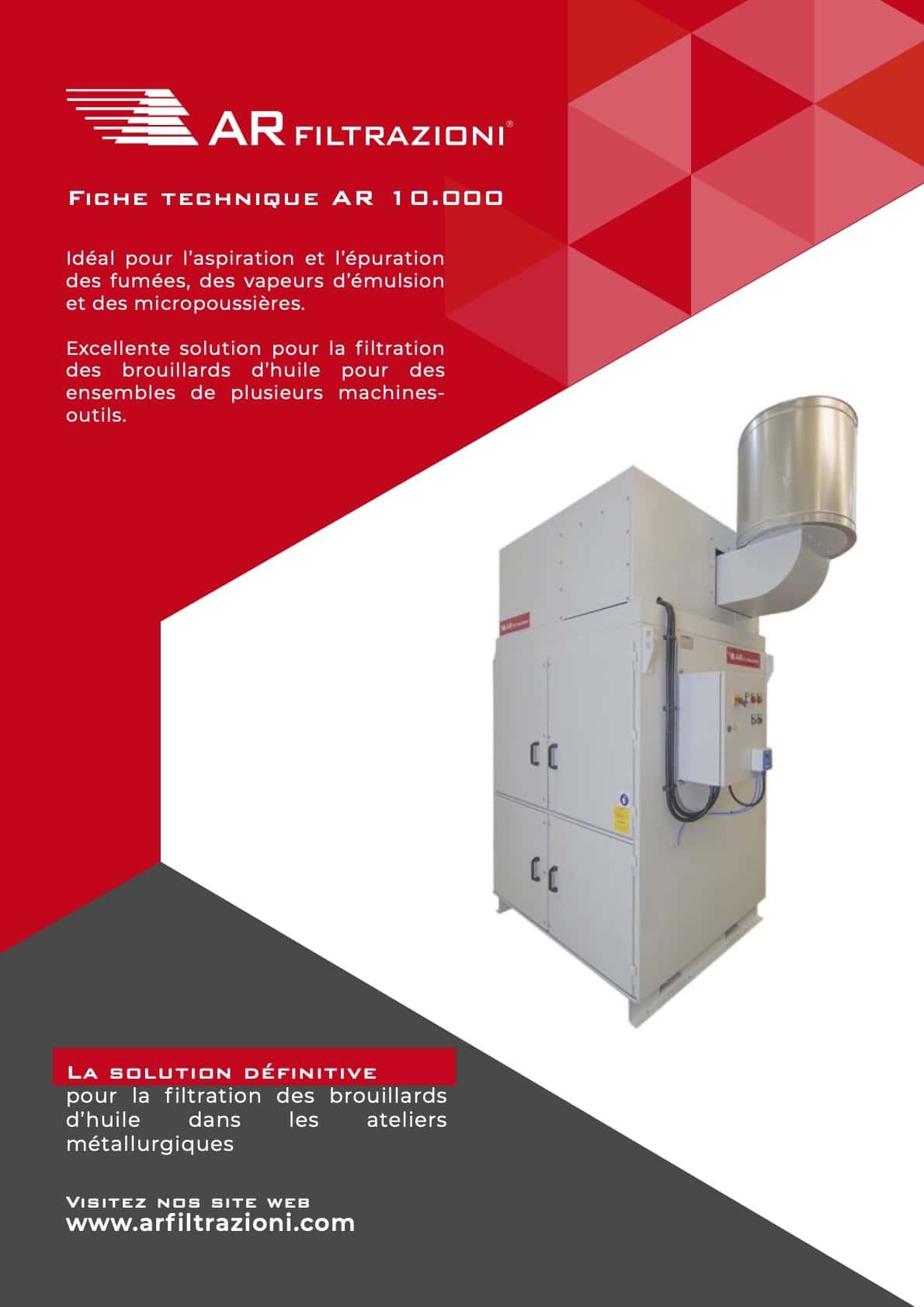 AR Filtrazioni Case History Portfolio Filtrazione Nebbie Oleose AR1000 – Aspiration et purification des brouillards d'huile générés lors de l'usinage par voie humide