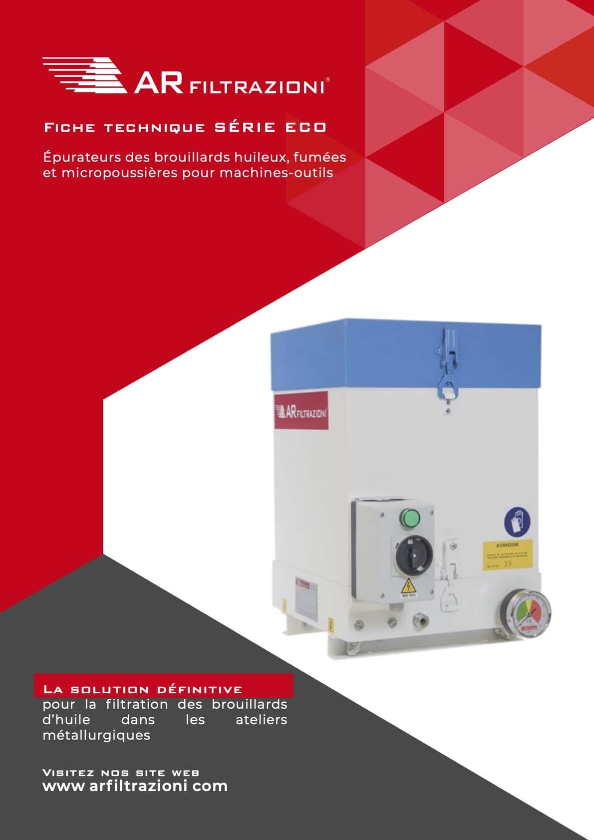 AR Filtrazioni Case History Portfolio Filtrazione Nebbie Oleose ECO – Fiche technique Aspiration industrielle et Filtration de brouillard d'huile AR Filtrazioni