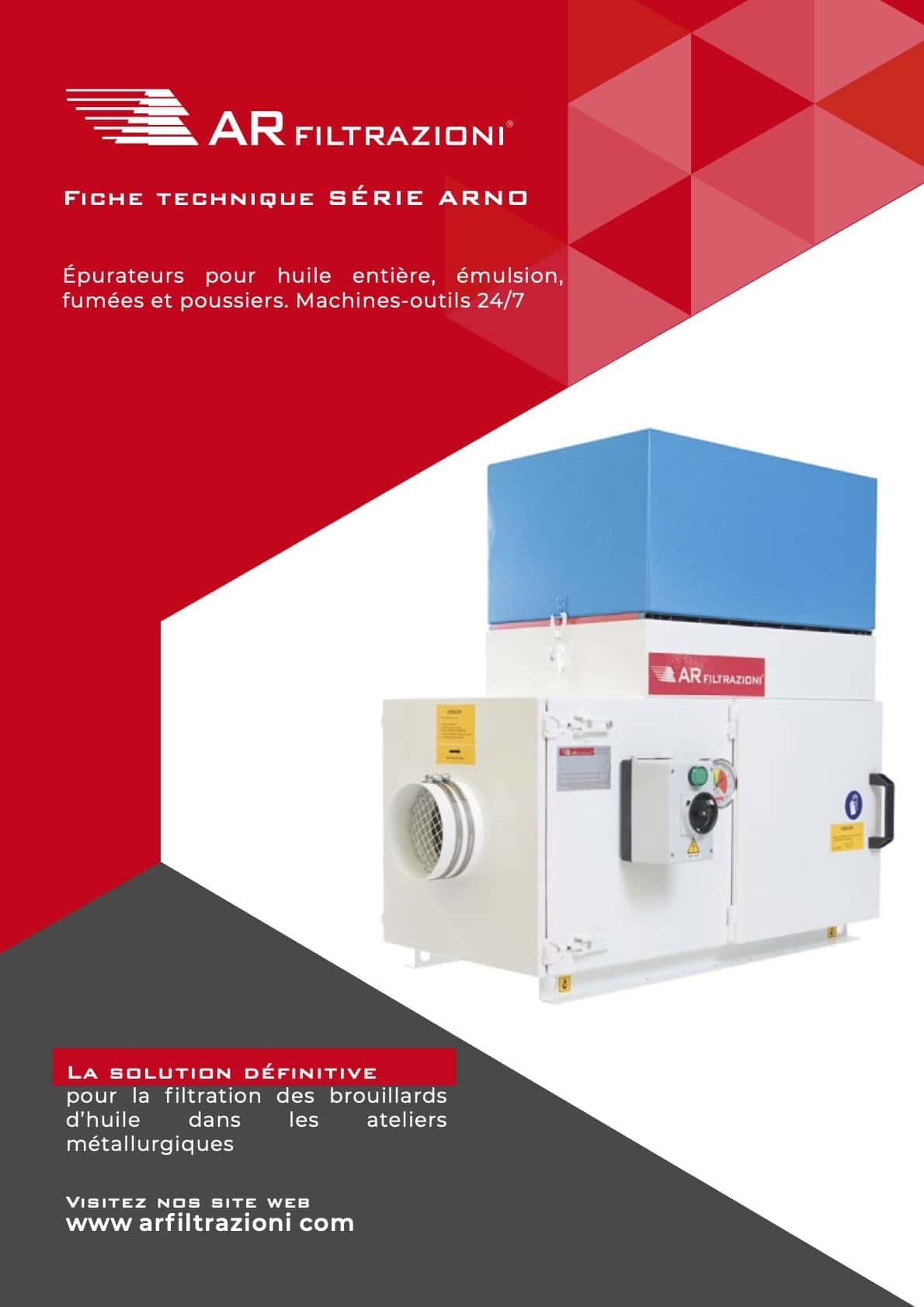 AR Filtrazioni Case History Portfolio Filtrazione Nebbie Oleose ARNO – Fiche technique Aspiration industrielle et Filtration de brouillard d'huile