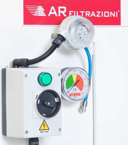 AR Filtrazioni manometro digitale presa harting macchine utensili